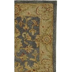 Safavieh Handmade Antiquities Jewel Grey Blue/ Beige Wool Runner (2'3 x 14')