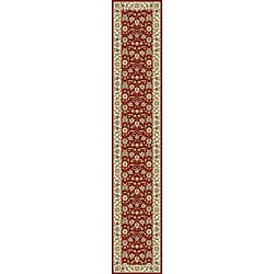 Lyndhurst Collection Floral Burgundy/ Ivory Runner (2'3 x 14')