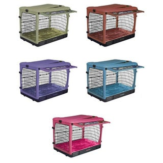 PetGear Colored Heavy-Duty Steel Crate with Bolster Pad