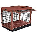 PetGear Colored Four-Door Steel Crate with Bolster Pad