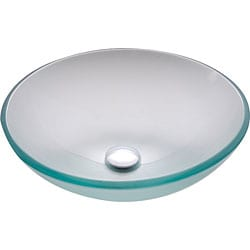 Kraus Frosted Glass Vessel Sink