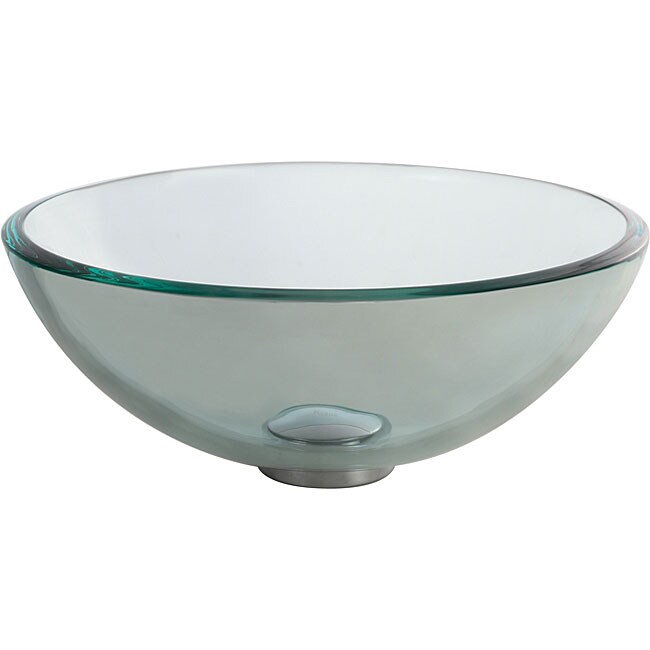 Kraus Clear 14 -inch Glass Vessel Sink - Overstock Shopping - Great ...