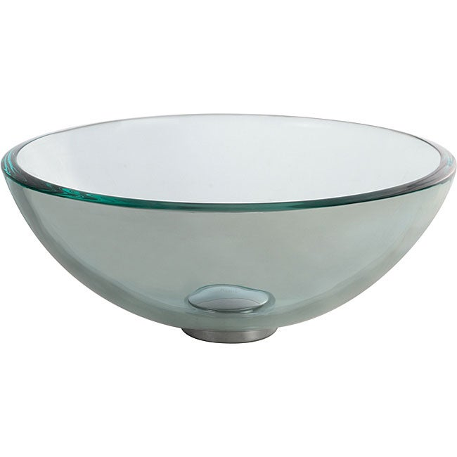 Clear Glass Sink : Kraus Clear 14 -inch Glass Vessel Sink - Overstock Shopping - Great ...