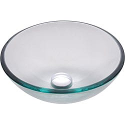 Kraus Clear 14 -inch Glass Vessel Sink with PU-MR Chrome