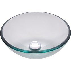 Kraus 14-inch Clear Glass Vessel Sink