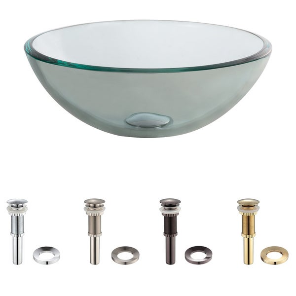 Kraus Clear 14 -inch Glass Vessel Sink
