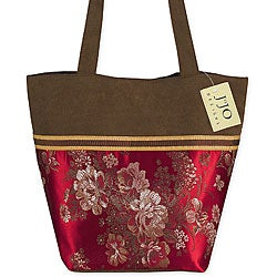 Sweet Jojo Designs Oriental Brocade and Microsuede Tote