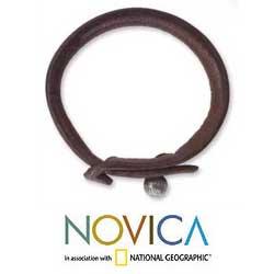 Leather 'Sleek Chic' Bracelet (Thailand)