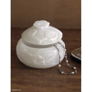 'White Garden' Stone Jewelry Box