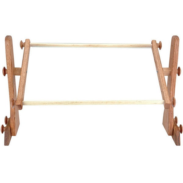 American Adjustable Oak Needlework Lap Frame