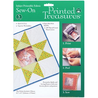 Printed Treasures Printable Fabric Sew-on Sheets