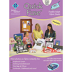 Quick Fuse Iron-on Inkjet Fabric Sheets (Pack of 3)