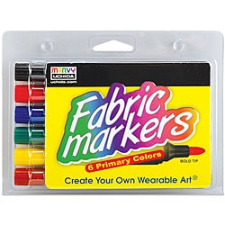 Uchida Broad Tip Fabric Markers (Pack of 6)
