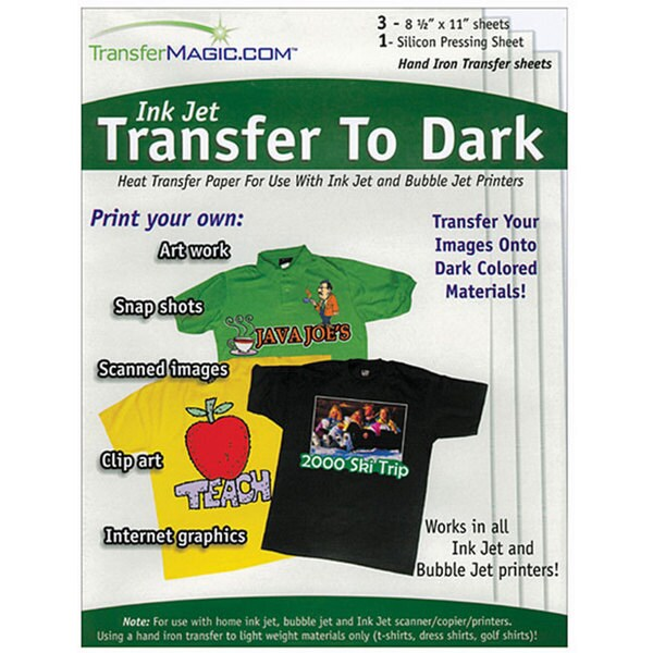 Ink Jet Dark Fabric Transfer Paper
