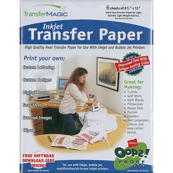 Transfer Magic High-resolution Inkjet Transfer Paper (Pack of Six)