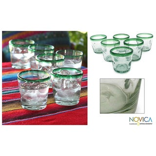 'Lime Freeze' 6-piece Juice Glass Set (Mexico)