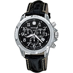 Wenger Men's Chronograph Black Strap Watch