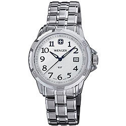 Wenger Men's GST Silver Bracelet Watch