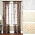 Angela Ribbon Embroidered 96-inch Curtain Panel