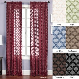 Aretha Diamond Rod Pocket 108-inch Curtain Panel