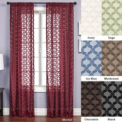 Aretha Diamond Rod Pocket 120-inch Curtain Panel