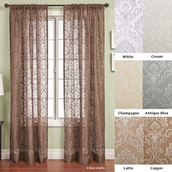 Bellino Medallion Rod Pocket 120-inch Curtain Panel