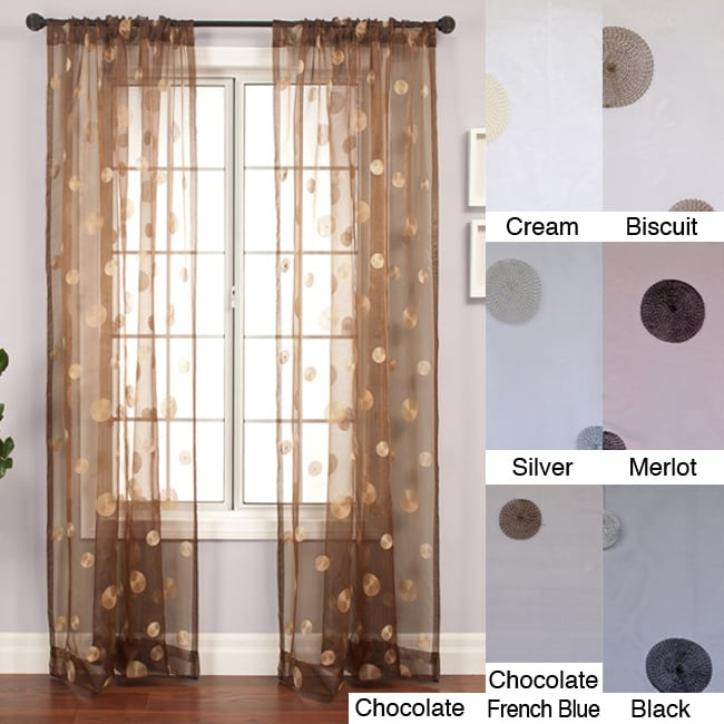 Dots Embroidered 96-inch Sheer Panel
