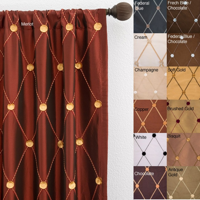 Helena Rod Pocket 120 Inch Curtain Panel Overstock Shopping Great Deals On Curtains