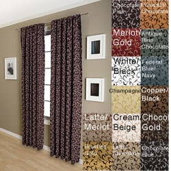 Malta Rod Pocket 84-inch Curtain Panel
