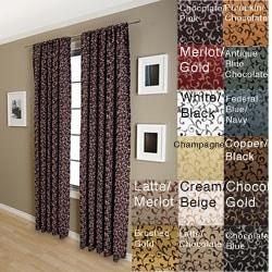 Malta Rod Pocket 84-inch Curtain Panel