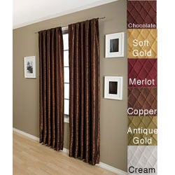 Marquis Diamond Taffeta 120-inch Curtain Panel