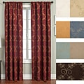 Renzo Chain Stitch Faux Silk 96-inch Curtain Panel