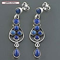 Sterling Silver Multi-gemstone Earrings (India)