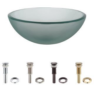Kraus Frosted 14 -inch Glass Vessel Sink