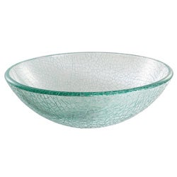 Kraus Mosaic Glass Vessel Sink with PU-MR Chrome