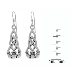 Tressa Sterling Silver Claddagh Earrings