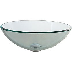 Kraus Clear Glass Vessel Sink