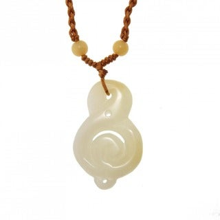 Yellow Jade Pendant with Necklace (China)