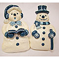 Snowman and Snowlady Napkin Rings (Set of 8)