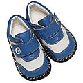 Papush Blue and White Leather Infant Shoes