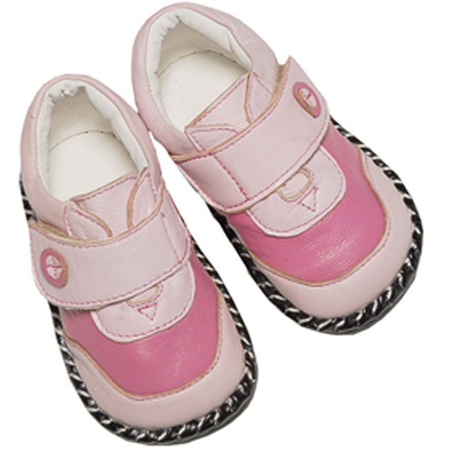 papush pink leather infant walking shoes 11419130