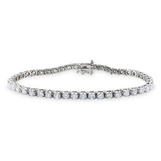 Miadora 14k White Gold 4ct TDW Diamond Bracelet (G-H, I1)