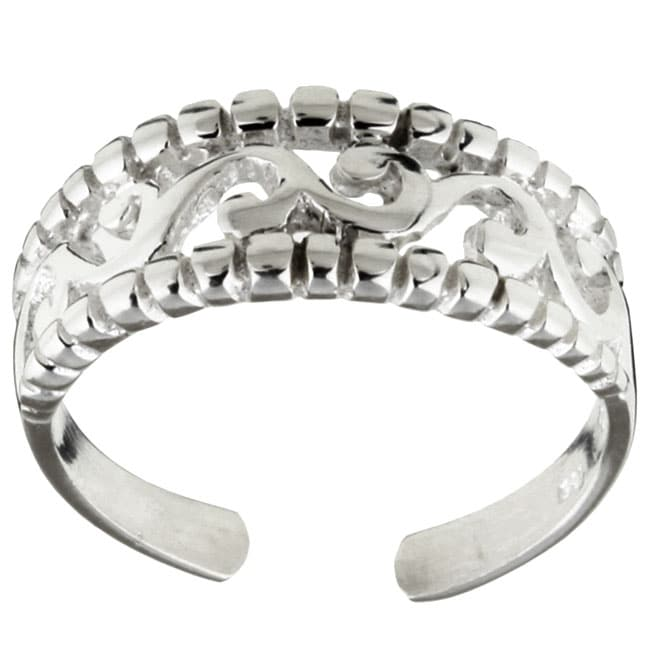 Sterling Essentials Sterling Silver Filigree Toe Ring