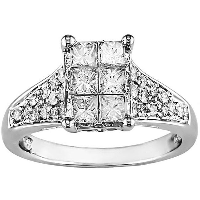 14k Gold 1ct TDW Princess-cut Diamond Ring (G-J, I1-I2)