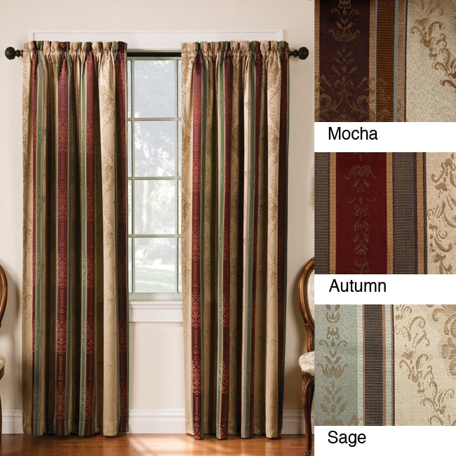 Thermal Backed Tuscan Blackout DARKENING ROOM Curtain Panel - 2pc Set ...