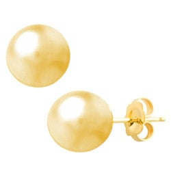 Fremada 14k Yellow Gold 8 mm Ball Earrings