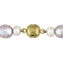 Miadora New York Pearls Multi-colored FW Pearl Necklace (8-9 mm)