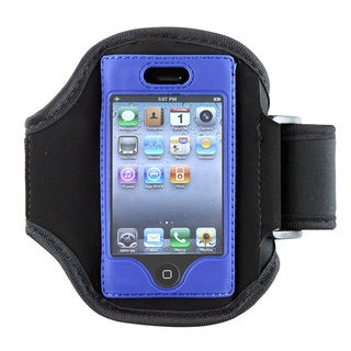 Deluxe ArmBand for Apple iPhone, Black/blue