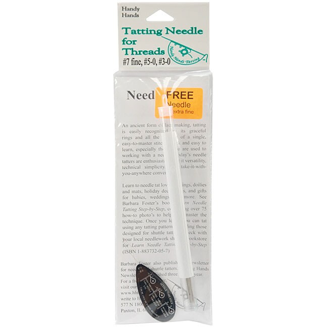 Tatting Needle Set for Thread with Three-size Needles and Threader