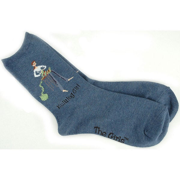 K Bell 'The Girls' Denim Sock Knitting Kit